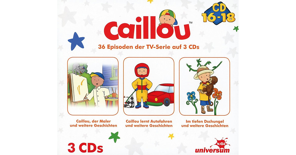 CD Caillou Hörspielbox 6 (CD 16-18)(3 CDs)