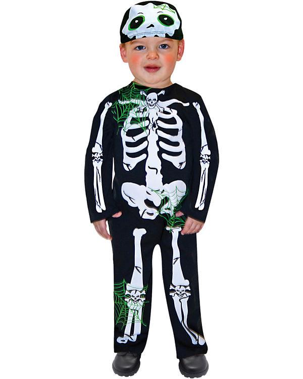 Kostüm Skeleton Toddler, 2-tlg., Amscan