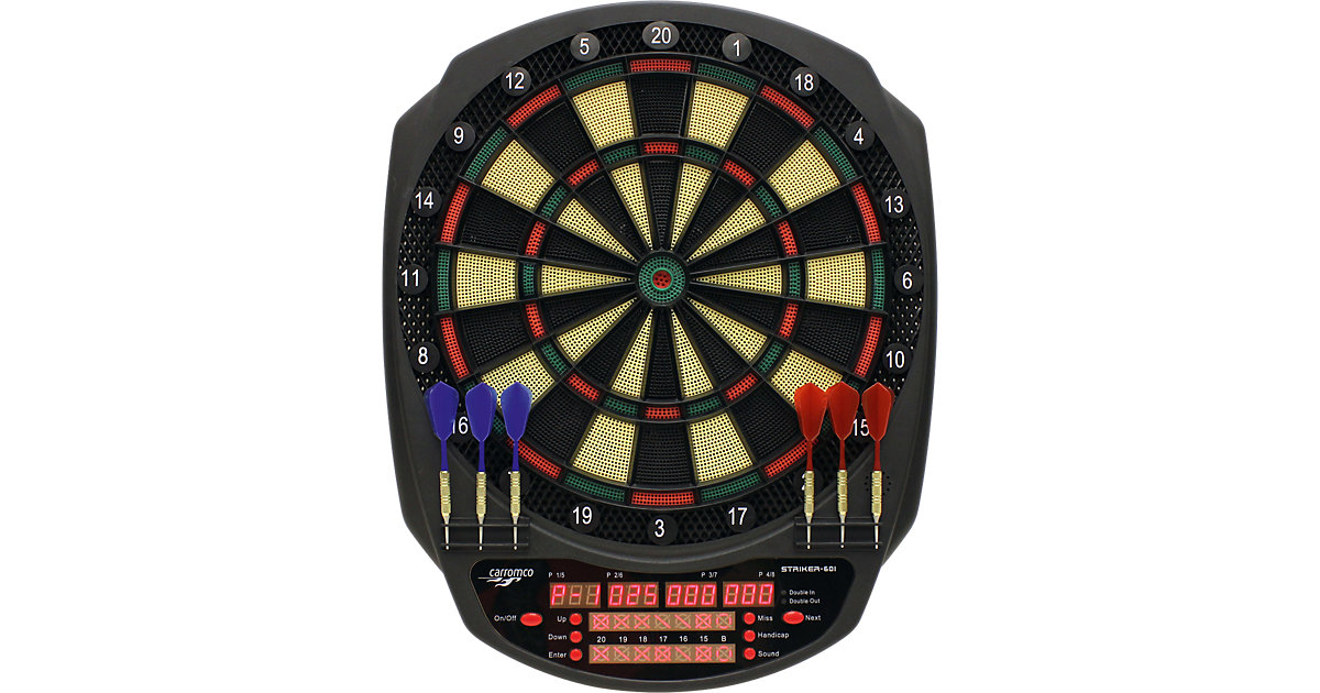 Elektronik Dartboard Striker-601, mit Adapter, ...