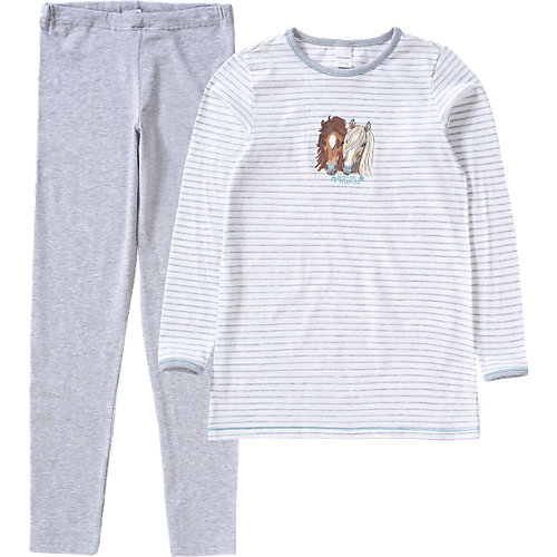 SCHIESSER Schlafanzug , Pferd Gr. 116 Mädchen Kinder | 04007064724848