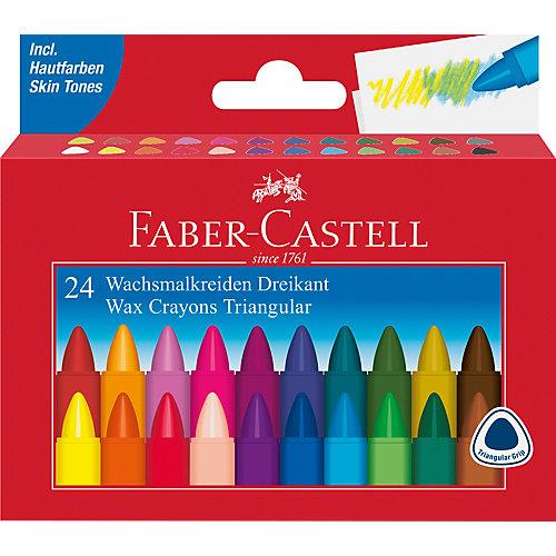 Мелки восковые Faber-Castell, 24 цвета от Faber-Castell