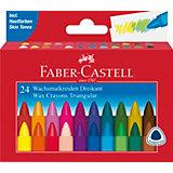 Мелки восковые Faber-Castell, 24 цвета