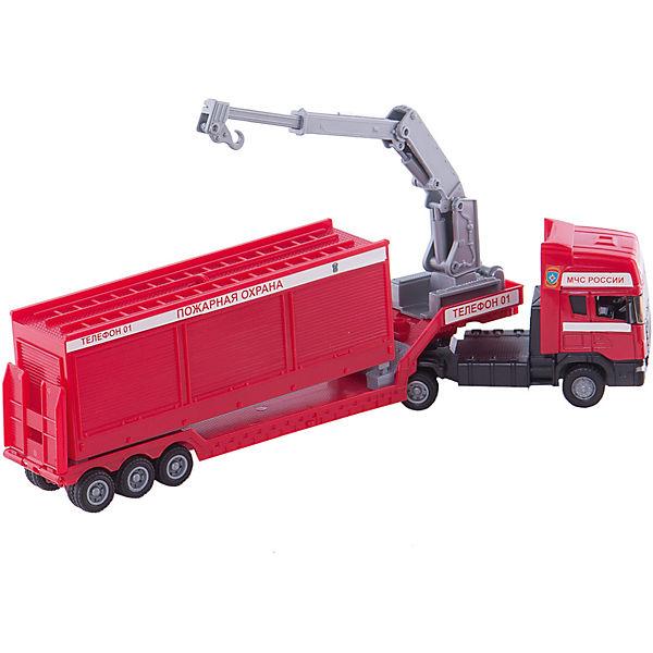 "Машинка ""Scania"" база на платформе, пожарная  1:48, Autotime"