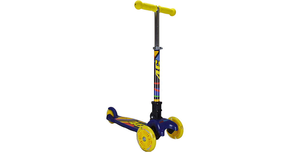 kiddimoto Scooter mit 3 LED-Rädern klappbar, Va...