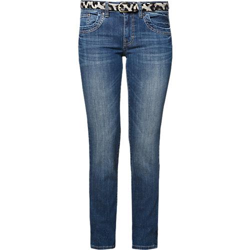 TOM TAILOR Jeans Alexa Straight mit Gürtel Gr. W27/L32 Damen Kinder | 04059491843258