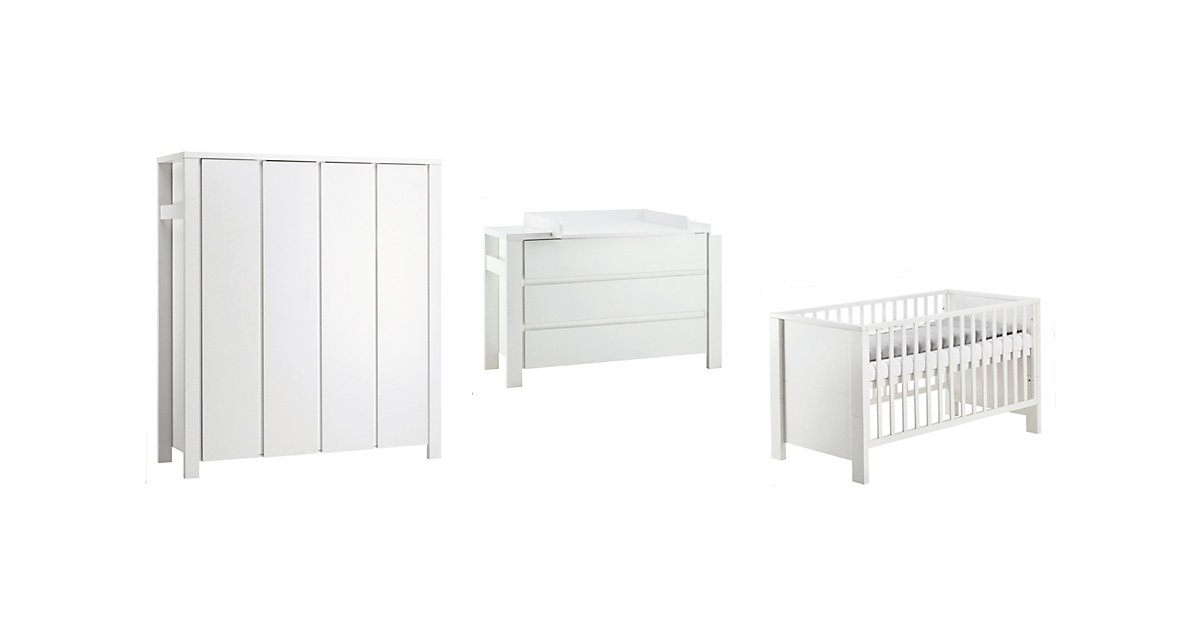 Schardt · Schardt Kinderzimmer Milano weiß 4-türig extrabreit
