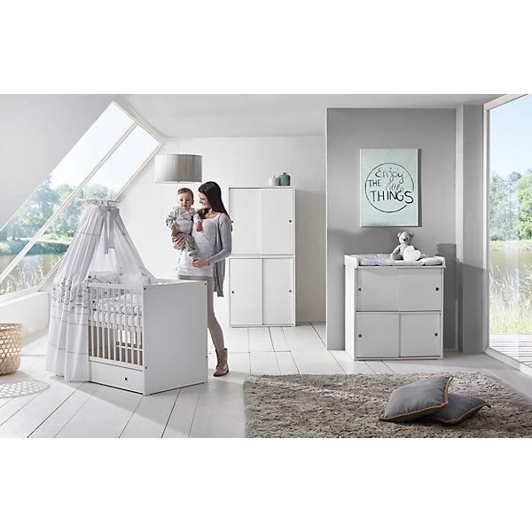 komplett kinderzimmer clic 3 tlg kombi kinderbett 70x140 umbauseiten wickelkommode mit. Black Bedroom Furniture Sets. Home Design Ideas