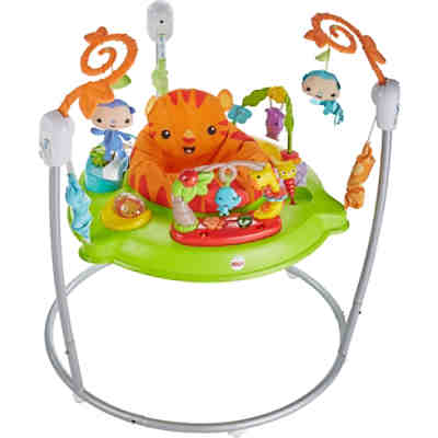 Fisher-Price Spielspaß Rainforest Jumperoo, Tür-Hopser, Baby-Hopser