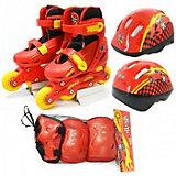 Набор: ролики раздвижные, набор защиты, шлем, Ралли, Next