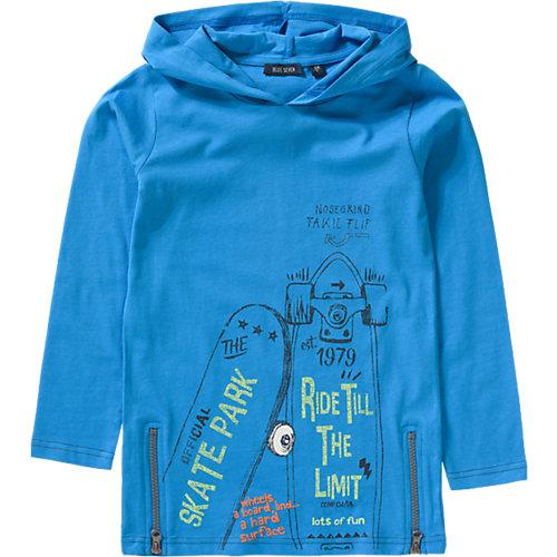 Blue Seven Langarmshirt mit Kapuze Gr. 92 Jungen Kleinkinder   04055851805478