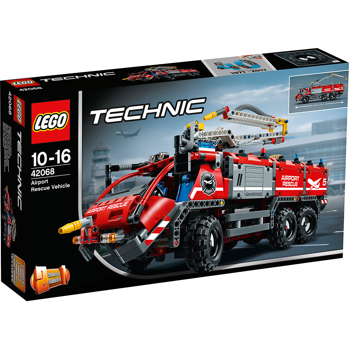 lego 42068 technic flughafen l schfahrzeug lego mytoys. Black Bedroom Furniture Sets. Home Design Ideas