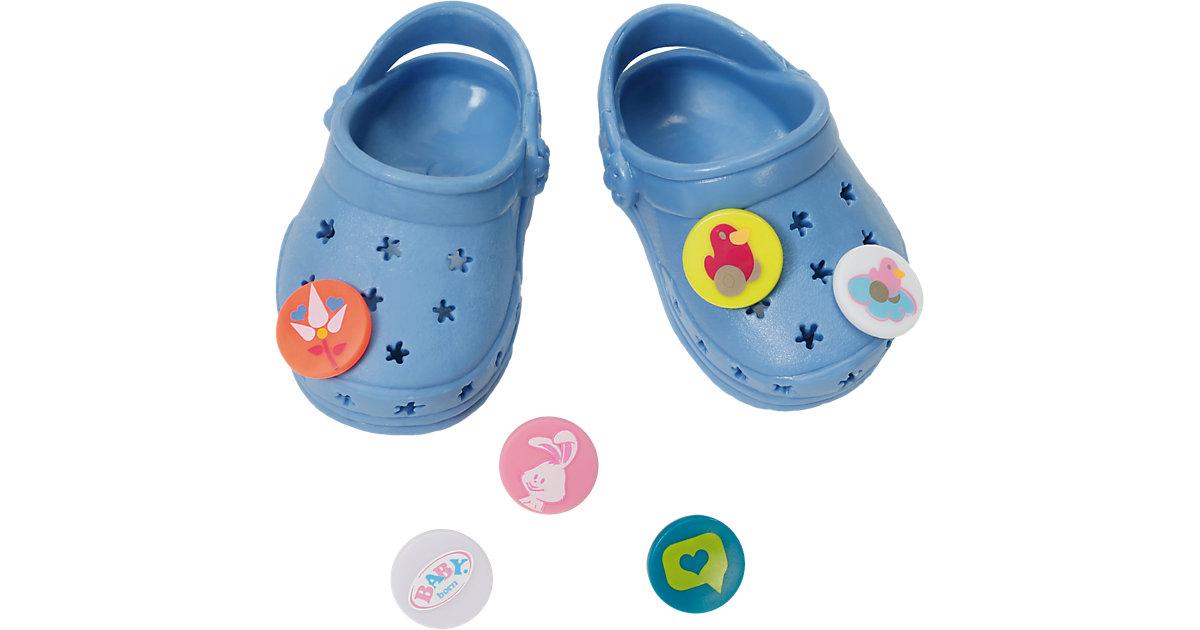 BABY born® Clogs mit Pins Blau Puppenkleidung