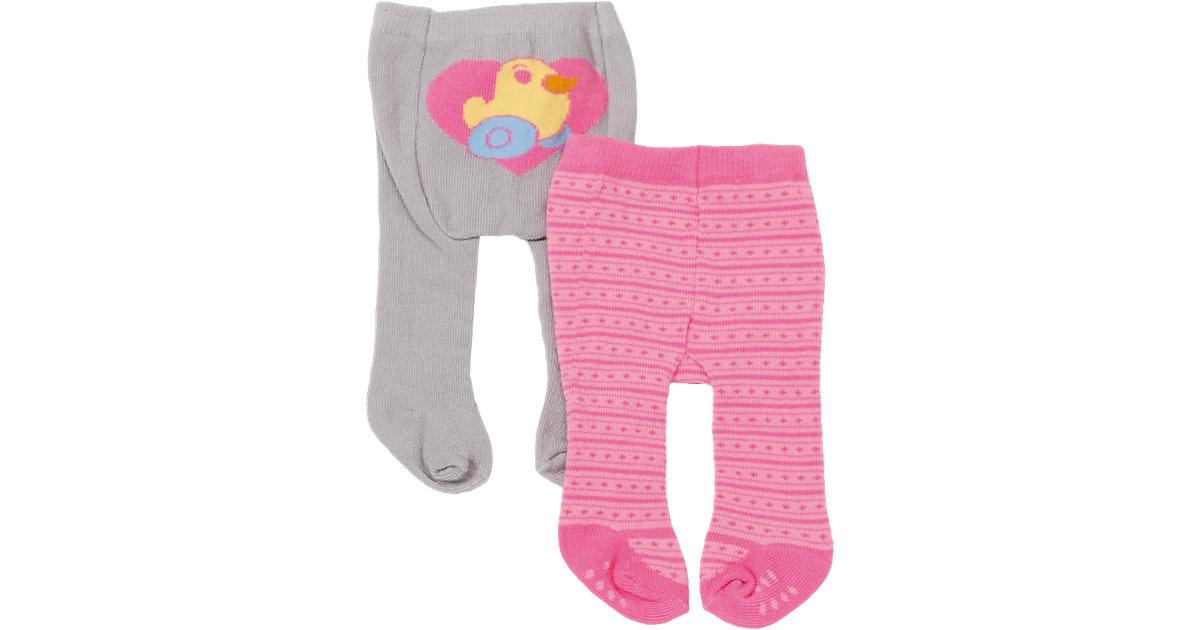 BABY born® Strumpfhosen Grau/Rosa, 2er Set, Puppenkleidung