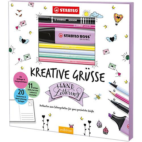 STABILO Malset Kreative Grüße Postkarten-Malbuch Sale Angebote Proschim