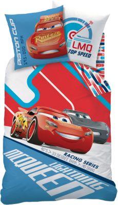 Wende  Kinderbettwäsche Disney Cars Racing, Biber, 135 X 200 Cm