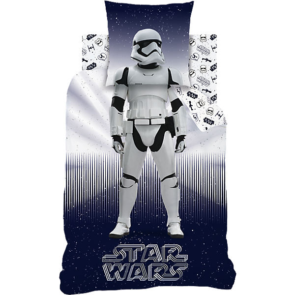 Wende- Kinderbettwäsche STAR WARS, Biber, 135 x 200 cm, Star Wars