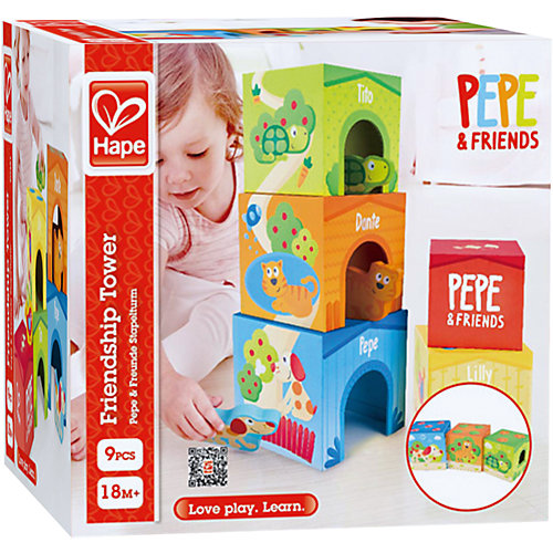 Кубики-пирамидка Hape Башня Дружбы, 9 шт от Hape