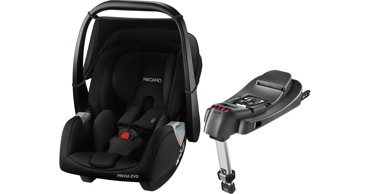 Babyschale Privia Evo inkl. RecaroFix Base, Performance Black Gr. 0-13 kg