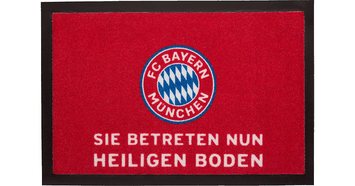 Fußmatte FC Bayern München, Heiliger Boden, rot, 40 x 60 cm | Heimtextilien > Fussmatten | FC Bayern München