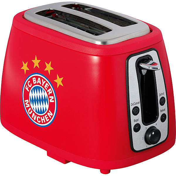 toaster fc bayern m nchen mit sound rot fu ballverein fc bayern m nchen mytoys. Black Bedroom Furniture Sets. Home Design Ideas