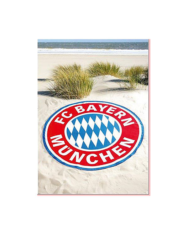 strand badetuch logo xxl rot fu ballverein fc bayern. Black Bedroom Furniture Sets. Home Design Ideas