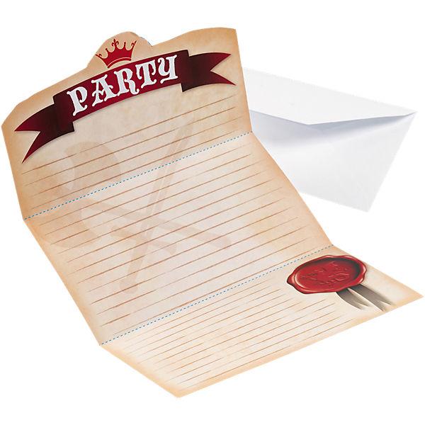 Einladungskarten Ritter Inkl. Umschlag, 8 Stück