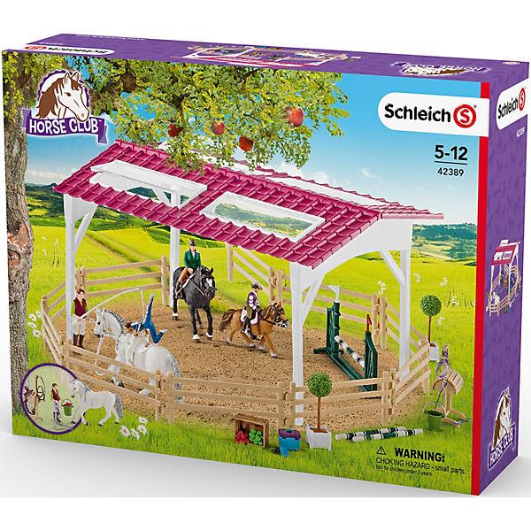 SCHLEICH 42389 Reitschule Reitschule 42389 mit Reiterinnen und Pferden, Schleich 6c5b8f