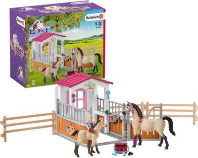 Horse Club Pferdebox mit Arabern und Pferdepflegerin Schleich 42369