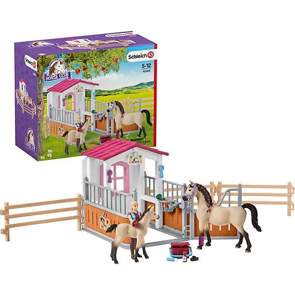 SCHLEICH 42369 Pferdebox mit Arabern und Pferdepflegerin ...