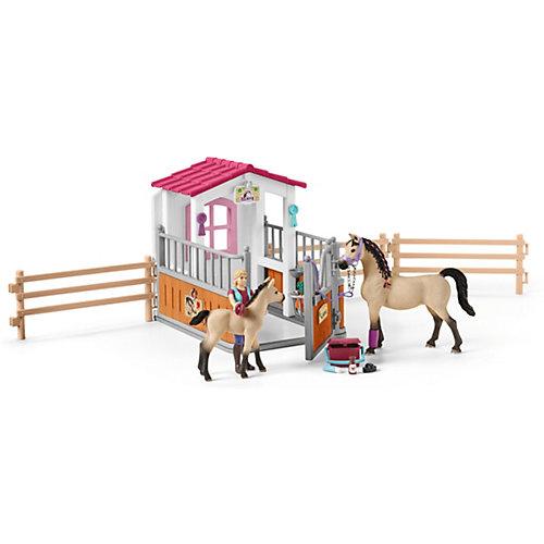 """Игровой набор Schleich """"Стойло с арабской лошадью и жеребенком"""" от Schleich"""
