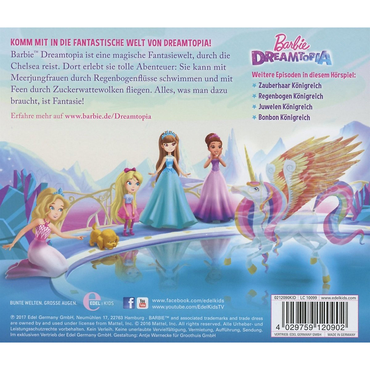 CD Barbie Dreamtopia - Chelsea im Traumland (Original-Hörspiel zum Film) Barbie cQvfm