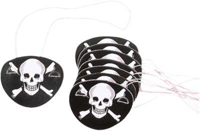 Lieblich Piraten Augenklappen, 12 Stück