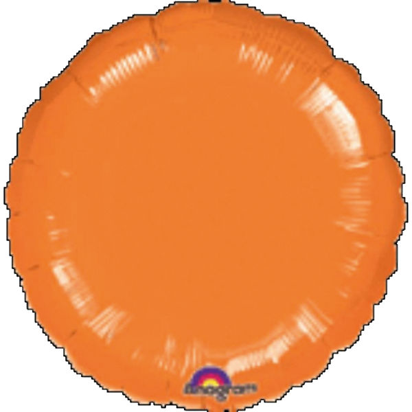 "Folienballon ""Orange Metallic"", 43cm"