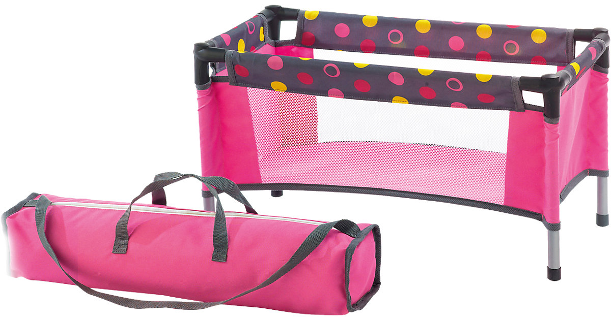 Puppen-Reisebett Dark Pink