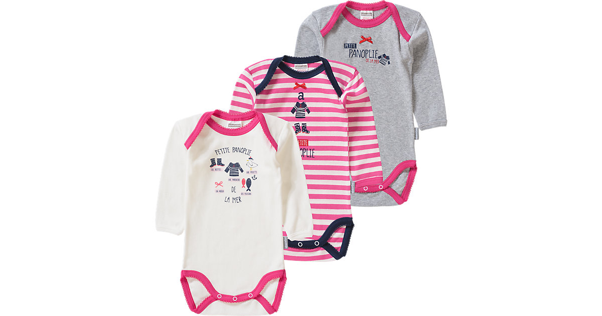 3er-Pack Bodys Gr. 68 Mädchen Baby