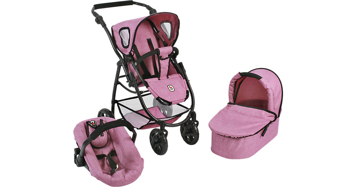 BAYER CHIC 2000 · Puppenwagen Kombi Emotion 3 in 1 All In, Jeans Pink