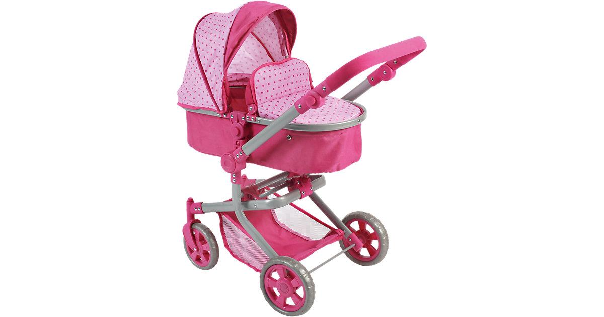 Puppenwagen Kombi Mika Dots Pink