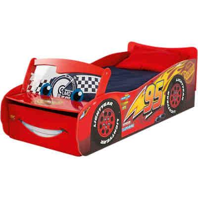 Kinderbett mit leuchtender Windschutzscheibe, Cars, rot, 70 x 140 cm,  Disney Cars