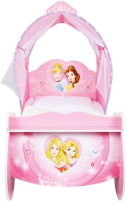 ... Kinderbett Kutsche Mit Leuchtendem Bogen, Princess, Rosa, 70 X 140 Cm 2