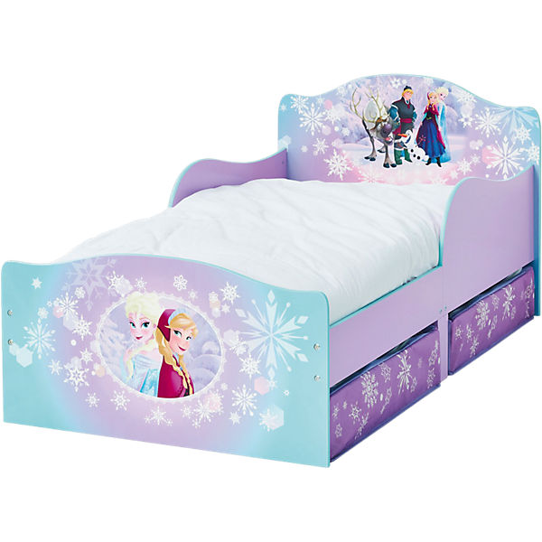 Kinderbett De Luxe Frozen Mit 2 Schubladen Blau 70 X 140 Cm