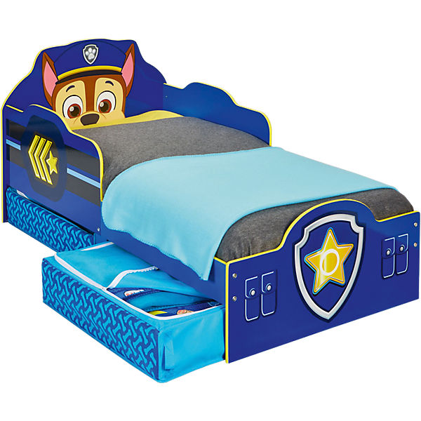 Kinderbett De Luxe Paw Patrol Mit 2 Schubladen Blau 70 X 140 Cm Paw Patrol