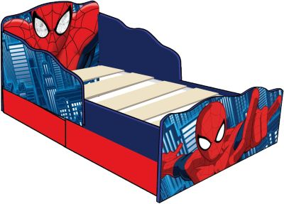 Kinderbett de Luxe, Spider Man, mit 2 Schubladen, rot, 70 x 140 cm