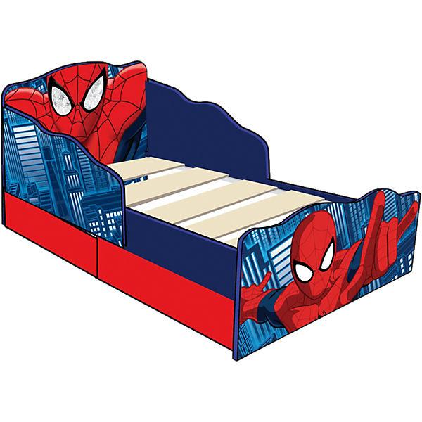 kinderbett de luxe spider man mit 2 schubladen rot 70. Black Bedroom Furniture Sets. Home Design Ideas