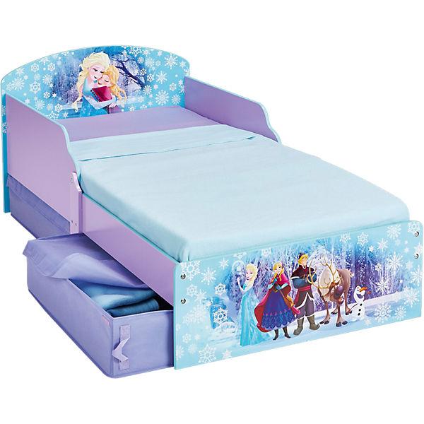 Kinderbett De Luxe Frozen Blau Mit 2 Schubladen 70 X 140 Cm