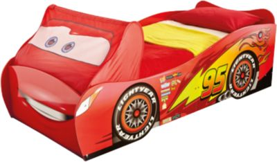 Kinderbett junge cars  Kinderbett Cars mit Sitzbank und Spielzeugbox, 70 x 140 cm, Disney ...