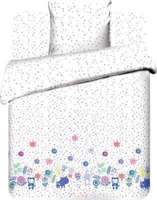 Детское постельное белье 1,5 сп. Василёк, Фотосессия, белый