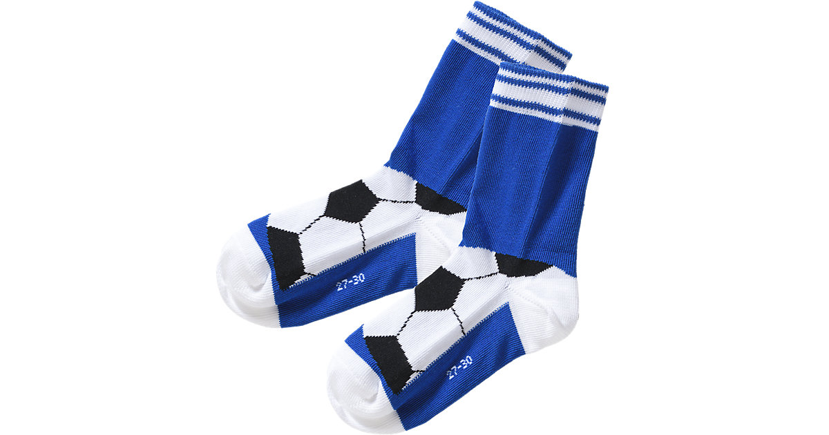 Socken , Fußball blau Gr. 23-26 Jungen Kleinkinder