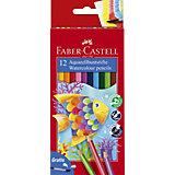 Карандаши акварельные Faber-Castell, 12 цветов + кисть