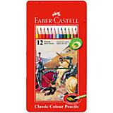 Faber-Castell Карандаши цветные Рыцарь в металлической коробке, 12 цветов