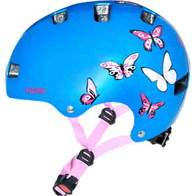 fahrradhelm kid 3 butterfly metallicblau uvex mytoys. Black Bedroom Furniture Sets. Home Design Ideas